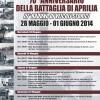 70 °Anniversario della battaglia di Aprilia