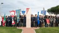 U.N.S.I. debutta alla cerimonia per ricordare lo Sbarco Di Anzio