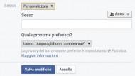 Facebook: libertà nella scelta del sesso