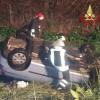 Incidente a Cisterna, VV.F. di Aprilia estraggono ferito dall'abitacolo