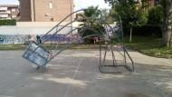 Il Mercatino di Aprilia dona un nuovo canestro da Basket.