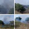 Allarme incendio sulla Pontina, rallentamenti a Castel Romano
