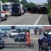 Carreggiata sud della Pontina chiusa da Pomezia per un incidente