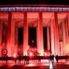 Blocco Studentesco: striscione e torce in Piazza del Popolo a Latina