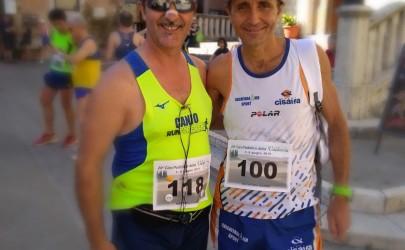 Caino Martinelli dell'ASD Runforever Aprilia alle gare di Val d'Orcia.