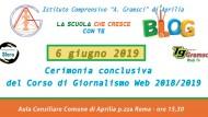I.C Gramsci, giovedì la cerimonia conclusiva del Corso di Giornalismo Web