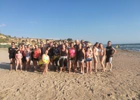 """Ieri la """"IV Martial Aerobic on the Beach"""": l'iniziativa contro l'osteoporosi."""