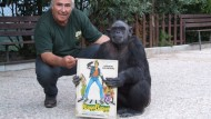 """Scimpanzè Day, allo Zoo delle Star festa per Tanga di """"Bingo Bongo""""."""
