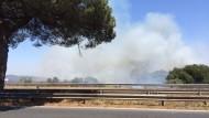 Incendio Pontina, riaperta la strada in direzione Latina.