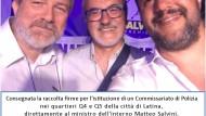 Raccolte firme di Latina a Salvini per un Commissariato nei Q4 e Q5.