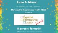 Presso il Liceo Meucci di Aprilia l'incontro con l'Equipe Formativa Lazio.