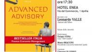 """""""Advanced Advisory"""": presentazione del libro il 31 gennaio presso l'Hotel Enea."""