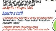 Borsa di studio per i corsi musicali presso l'associazione Amadeus.