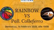 La Rainbow Aprilia Basket ospiterà il Pallacanestro Colleferro.