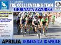 """""""Giornata Azzurra"""" ad Aprilia il prossimo 18 aprile per il I Trofeo Tre Colli Cycling Team."""