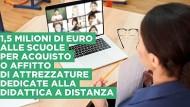 Scuola: bando regionale per sostenere la didattica a distanza.