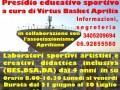 La Virtus Basket Aprilia realizza un presidio sportivo/educativo.