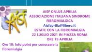 Estate con la Fibromialgia: domani alle 19 appuntamento in Piazza Roma.
