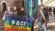 Il Comune di Aprilia presente alla marcia Assisi-Perugia.