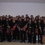 Una gelida giornata riscaldata dalla musica dell'Aprilia Orchestra
