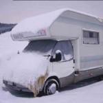 In Camper sulla neve