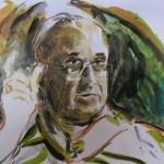 Il ritratto di Guadagnuolo a Papa Francesco