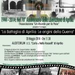 """""""La Battaglia di Aprilia"""". In memoria dei nostri caduti"""