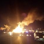 Terribile incendio all'azienda Martufi