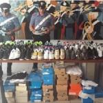 Aprilia: sequestrati capi di abbigliamento, scarpe e cd musicali