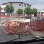Cantieri fantasma in via Aldo Moro