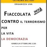 Una manifestazione contro il terrorismo e la violenza