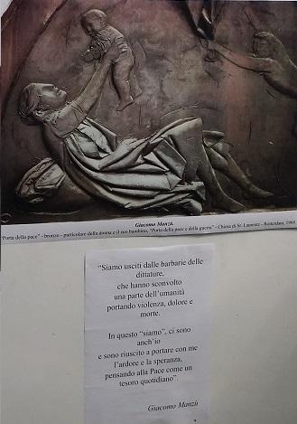 La scultura di Manzù che simboleggia l'amore, il gioco, fattori importanti per la crescita del bambino
