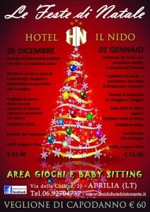 Natale al Ristorante Hotel Il Nido di Aprilia