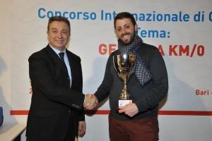 Valerio Esposito premiato alla Fiera del Levante [foto di V.E.]