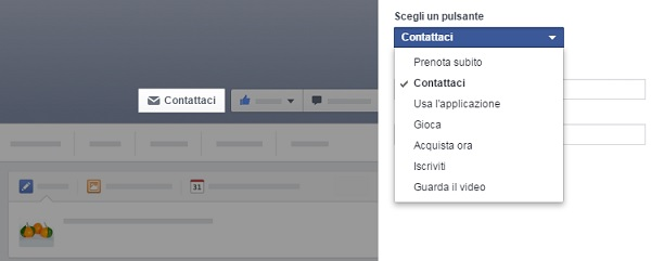 Pulsante CTA Facebook