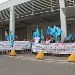 I lavoratori in manifestazione ad Aprilia 2