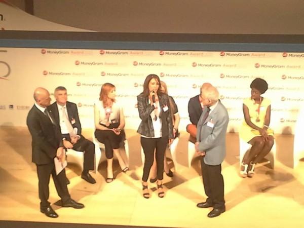 Sihem Zrelli riceve il Moneygram Award
