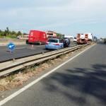 Tir fuori strada: traffico sulla Pontina in direzione Latina