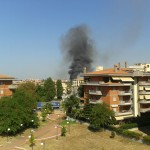 Incendio in zona Nettunense