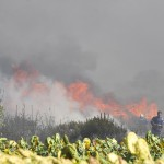 Incendio in via Vallelata