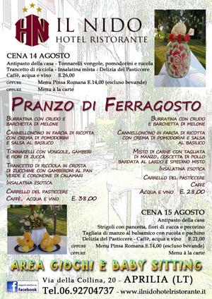 menu ferragosto 2015