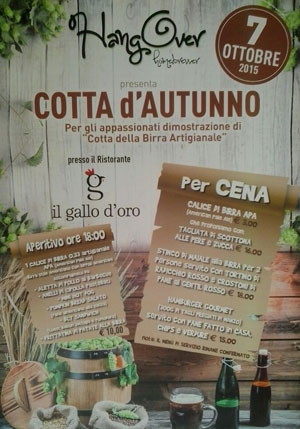 "Menu ""Cotta d'Autunno"""