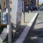 Cabina pericolante in via Costantino