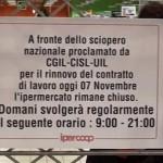 Anche le Coop di Aprilia sono in sciopero