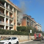 Via dei Mille, incendio in un condominio
