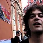 Roberto Dellera sul palco dell'Ex Mattatoio