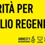 Aprilia presente alla manifestazione per Giulio Regeni