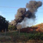 In fiamme discarica in zona Albano Laziale