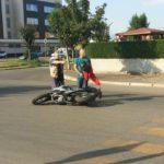 Scontro in Via Aldo Moro tra auto e moto