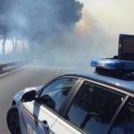 Incendio sulla Pontina: attenzione tra Castel Romano e Monte D'Oro